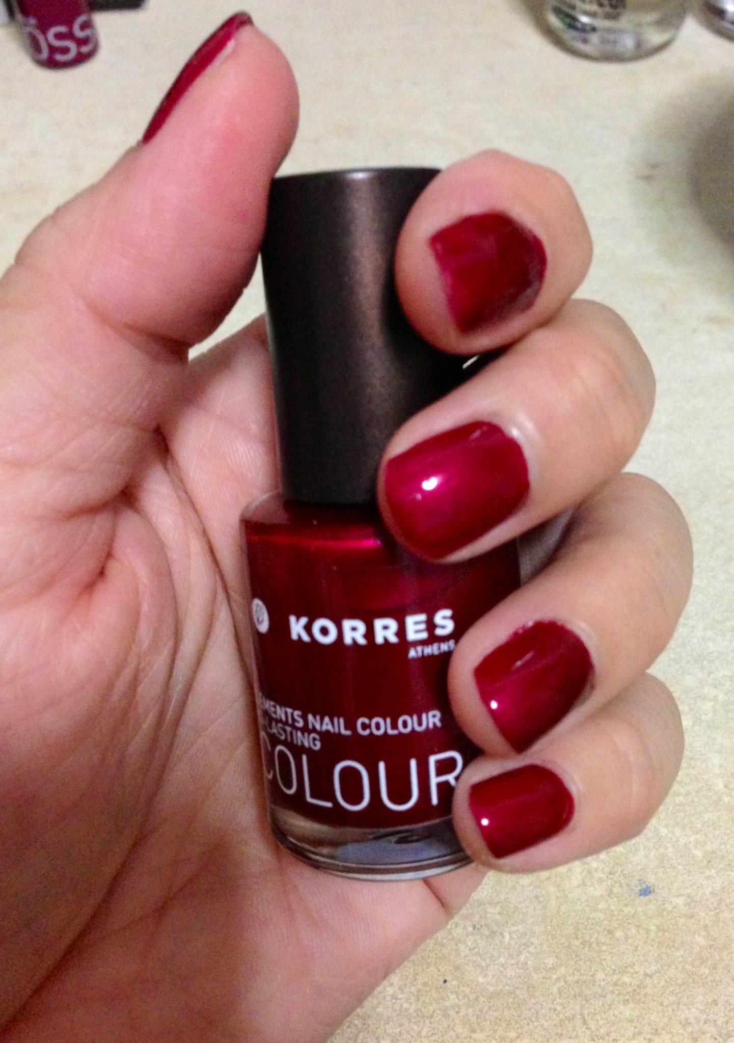 One Coat Wonder – Korres Nail Colour in 55 Ruby Red   Make Up My ...